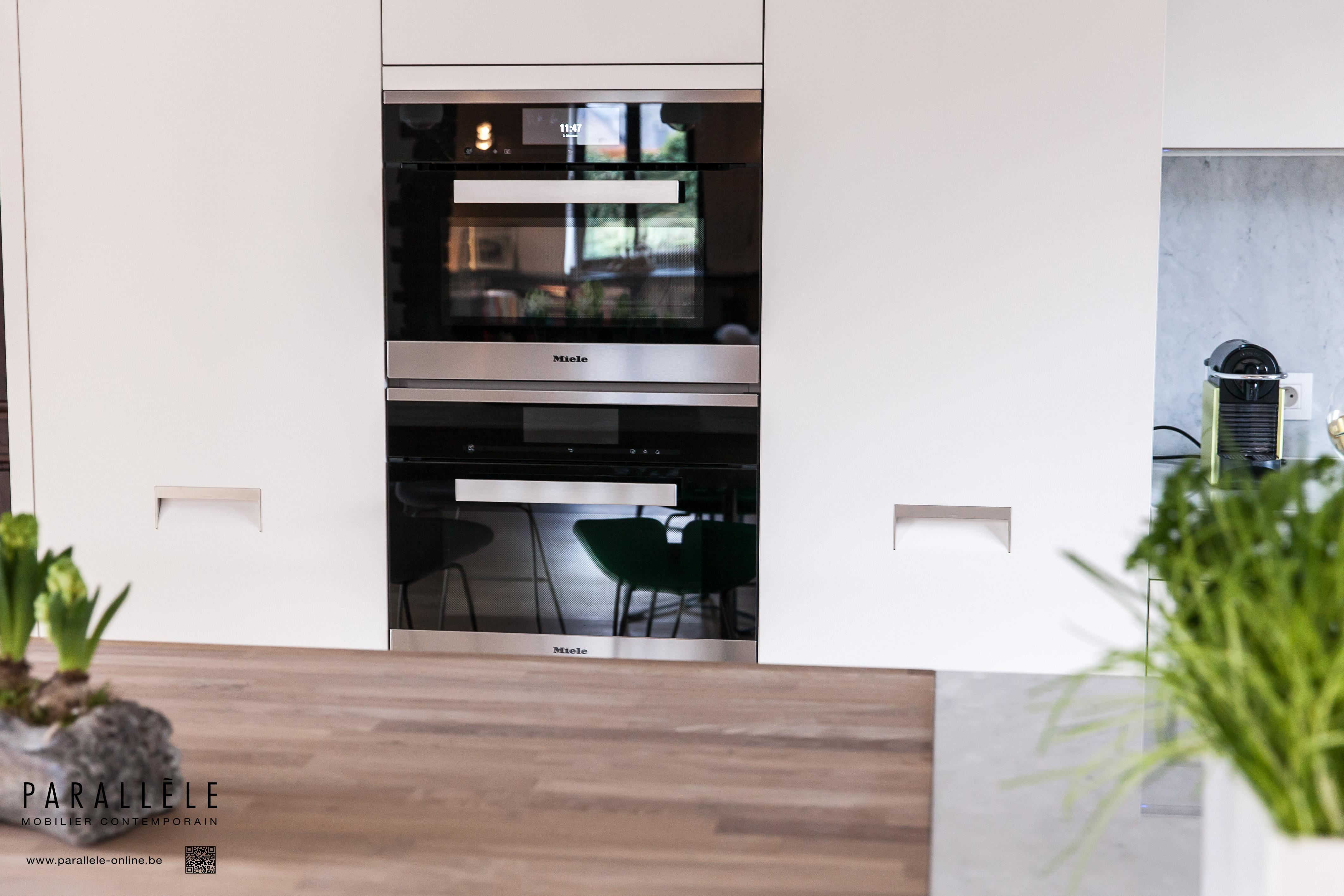 modele cuisine parallele modele de cuisine avec ilot les